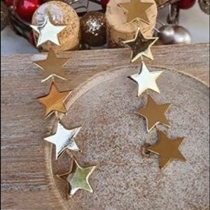 Star ⭐️ earrings coated 4x with 18k